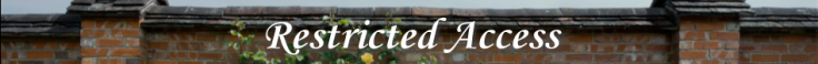 Restricted Access Banner